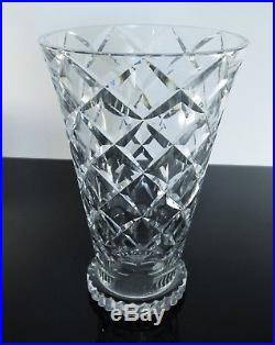 Grand Ancienne Vase En Cristal Souffle Taille St. Louis Art Deco