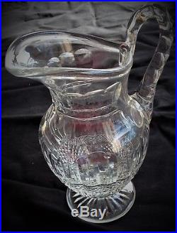 Grand broc à eau en cristal incolore modèle Tommy signé Saint-Louis