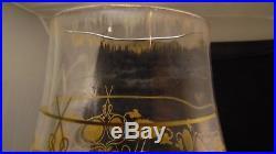 Grand vase en cristal de Baccarat ou St Louis à décor de chardon en dorure