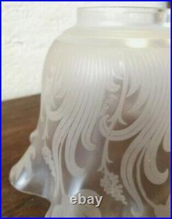 Grande Tulipe Cristal Saint Louis Pour Lampe A Petrole Huile Fin XIX E Siecle