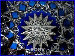 Grande coupe cristal bleu cobalt Saint Louis Baccarat 2,8kg crystal large bowl