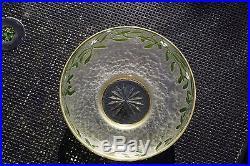Grande coupe cristal émaillé art-nouveau / déco daum saint louis baccarat gallé