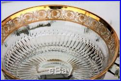 Grande coupe évasée en cristal de St Louis modèle Thistle Or