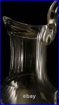 Grande cruche aiguière en cristal de Saint Louis modèle Thistle non doré