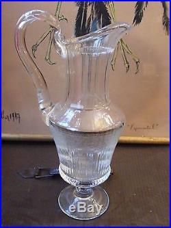 Hanap Broc en Cristal de St Louis Modèle Thistle non doré