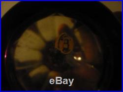 Lampe Berger en cristal de Saint Louis overlay violet 19e étiquette ancienne