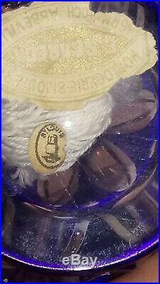 Lampe berger cristal st Louis XXème Cristal Taillé bleu Old French Crystal Stamp