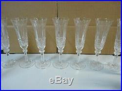 Lot 11 Saint Louis Modèle Tommy Flûte à champagne en cristal taillé Estampillé