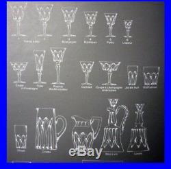 Lot 20 Verres Cristal Saint Louis Camargue Estampilles, Vintage 1960 Tbe + 11