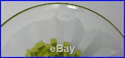 Lot 6 verres à vin en cristal couleur ST. LOUIS signée ROTY /crystal glasses