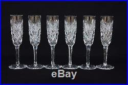 Lot de 6 flûtes à champagne en cristal de St Louis modèle Florence