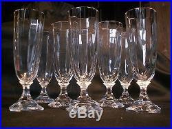Lot de 8 superbes flutes à Champagne en cristal St Louis modèle St Cloud TBE