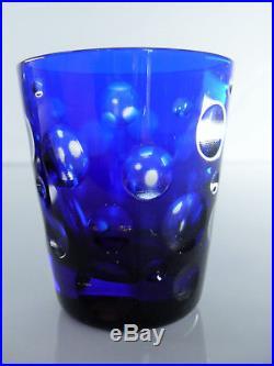 Magnifique 6 Gobelet Digestif Cristal Taille Boubble St Louis Moser Faberge