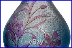 Paire de vases Art Nouveau aux bleuets par Saint-Louis Pair of Art Nouveau vases