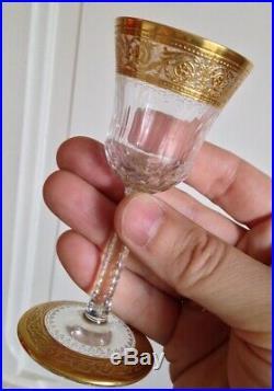 Petit Verre à liqueur en Cristal et dorure Saint Louis Modéle Thistle (7 dispo)