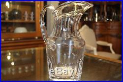 Pichet broc en cristal signé SAINT LOUIS crystal pitcher jug
