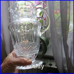 Pichet cruche broc en cristal de saint louis modèle tommy
