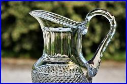 Pichet ou broc à eau en cristal de St Louis modèle Trianon