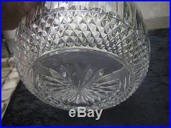 Rare Et Sublime Coupe Saladier Centre De Table En Cristal De Saint Louis Tommy
