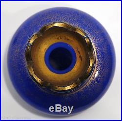 RARE FLACON à PARFUM CHARLES X cristal d'opale bleu lavande BACCARAT St LOUIS