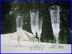 rare serie de 6 verres flutes en cristal de saint louis modele tommy d verres cristal st louis. Black Bedroom Furniture Sets. Home Design Ideas