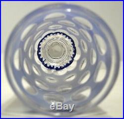 RARE VERRE cristal Saint-Louis 1850 OVERLAY TRIPLE mi-XIXe