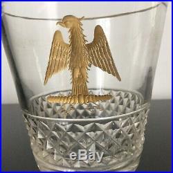 RARE Verre Cristal Aigle Impérial NAPOLEON 1er Empire déb XIXè Baccarat St Louis