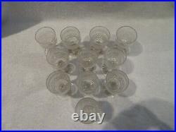 Rare 11 verres à vin 11,5cl cristal Saint Louis Le Creusot crystal wine glasses