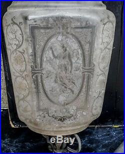 Rare Lanterne Lustre Cristallerie St Louis 4 Saisons 1880 Lantern Four Seasons