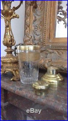 Rare Shaker en Cristal de St Louis et Or modèle Thistle