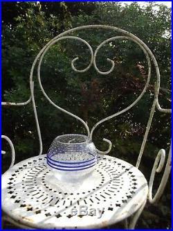 Rare Vase Cristal Paul NICOLAS Art Verrier St Louis Art Déco Gallé d'Argental