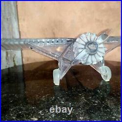 Rare avion en cristal DAUM par Xavier FROISSART Spirit Of Saint Louis Airplane
