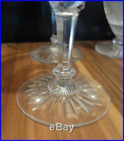 Rare ensemble carafe et 3 verres en cristal SAINT ST LOUIS Variante TOMMY 1900