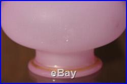 Rare paire de vases en opaline rose XIXème filets d'or soufflé Baccarat St Louis