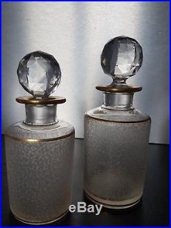 Rare service de toilette en cristal de saint louis baccarat complet dorure xixe