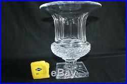 Rare vase médicis en cristal de Saint Louis modèle Versailles Hauteur 24 cm