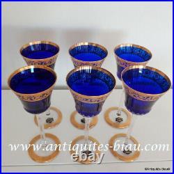 Roemer Bleu Foncé St Louis Cristal Thistle Or 20.8cm parfait état prix pour1