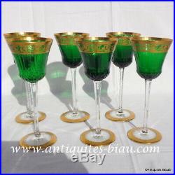 Roemers vert St Louis Cristal Thistle Or 20.8cm parfait état