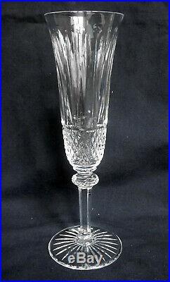 SAINT LOUIS 6 flûtes à champagne CRISTAL taillé modèle TOMMY SIGNEES
