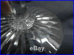 SAINT LOUIS 6 verres à eau CRISTAL taillé modèle TOMMY SIGNES 18,1cm