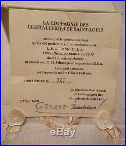 SAINT LOUIS CRISTAL Presse-Papier Sulfure AMOUR Édition Limitée 1979 Paperweight