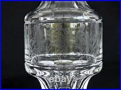SAINT-LOUIS Grand Vase en Cristal Décor Gravé Acide Danseurs Grecs Signé
