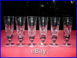saint louis jersey 6 flutes a champagne paquebot france cristal taill lorraine verres cristal. Black Bedroom Furniture Sets. Home Design Ideas