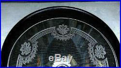 SAINT LOUIS MANON 6 COUPES A CHAMPAGNE CRISTAL GRAVE 12 cm