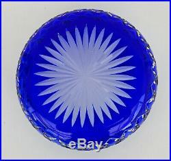 SAINT-LOUIS MASSENET Coupe en Cristal Taillé et Doublé Bleu Cobalt