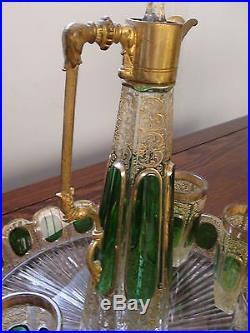 SAINT LOUIS / Modèle RABAT / avant 1930 / Service dégustation Liqueur / MINT