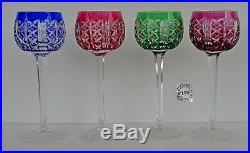 SAINT-LOUIS RIESLING 4 Grands Verres à Vin du Rhin Roemer 18,5 cm Signés