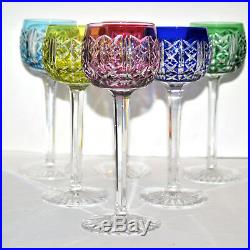 SAINT-LOUIS Série 6 Verres à vin Cristal doublé couleur Roemer RIESLING 18.4cm