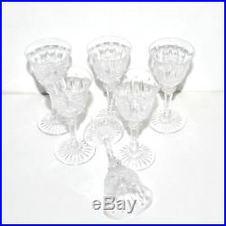 SAINT-LOUIS Série de 6 Verres à liqueur TOMMY en Cristal taillé 10 cm Ht TB