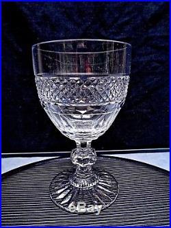 SAINT LOUIS TRIANON 3 VERRES A VIN ROUGE CRISTAL 12 cm